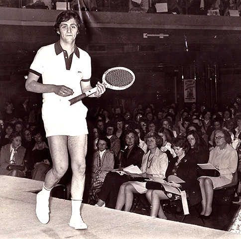 Brent Sadler's one and only appearance on the catwalk in the 1970s