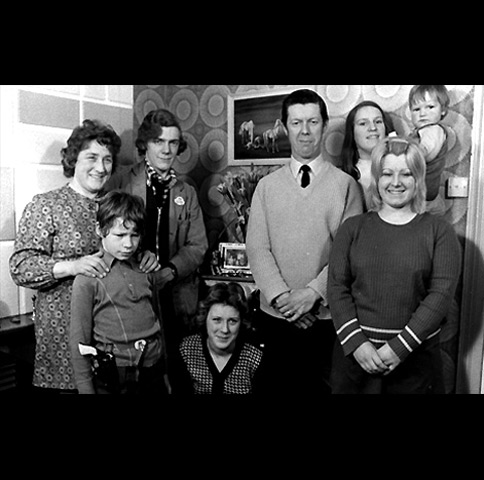 The Wilkins family of Reading, Berkshire. An early reality show produced by the BBC during the 1970s