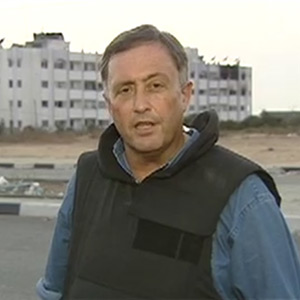 Gaza, 2004. Another risky day for the CNN teams in Gaza as Israeli gunships target a suspected Palestinian arms factory and Palestinian gunmen hit back at an Israeli army outpost