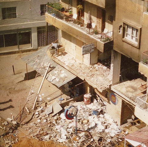 Edgar was inside his second-floor apartment in Beirut when it was struck by an artillery round