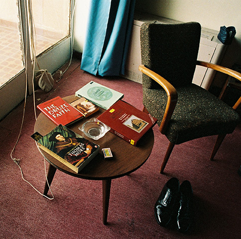 Inside Terry Waite's room at the Riviera Hotel in Beirut hours after he had been kidnapped on January 20, 1987