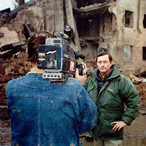 Sadler appears on CNN's ''International Hour'' with Ralph Begleiter discussing the horrors of war in the Chechen capital, Grozny, in 1994