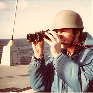 A Sadler report from aboard a British warship bound for the Falkland Islands in 1981