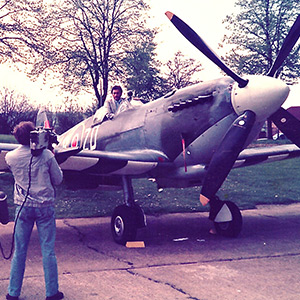 Memorable 1984 flight in a WWII Spitfire in the skies over Southern England where the Battle of Britain was fought almost fifty years earlier