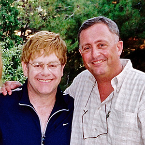 Having published one of the first stories in the career of superstar musician Sir Elton John, Sadler meets him in Lebanon